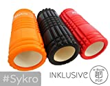 Faszienrolle Massagerolle - E-Book inklusive! - #Sykro 'Winner' intensivere Massage durch optimierte Struktur (orange)