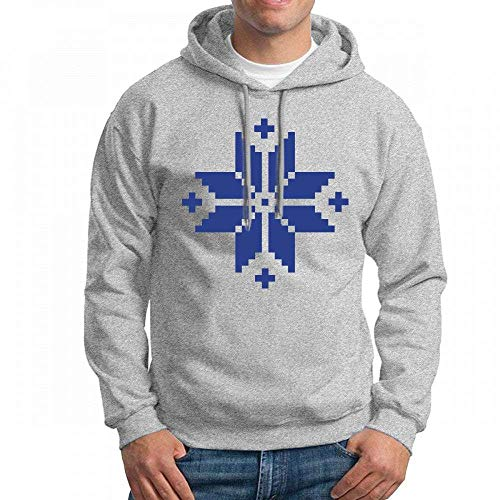 ruziniujidiangongsi Sweatshirt for Men Norwegian Pattern Star Hoodie