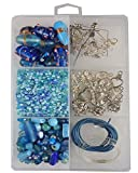 #5: eshoppee handmade lampwork furnace fancy glass beads, seed beads jewellery making art and craft diy kit (turquoise)