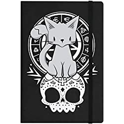 Grindstore - Cuaderno de gatos tamaño A5 modelo Kitten Of The Night (Talla Única) (Negro)