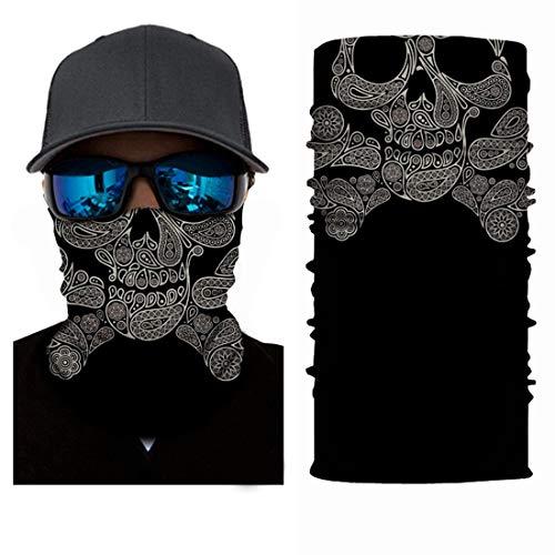 Schädel Multifunktions Magie Schal UV Schutz Gesicht Sonnenmaske Headwear Für Laufen Radfahren Motorrad Fischen Jagd Yard Arbeit (Size : A004) ()