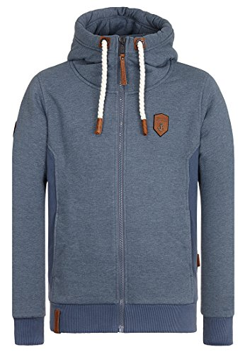 Naketano Male Zipped Jacket Birol IX Dark Ash Melange