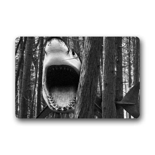 """Uosliks Generic Customize Design Shark Welcome Fußabtreter,Garden & Home Outdoor Indoor Use Non-Slip Door Floor (L23.6""""X15.7""""W)"""