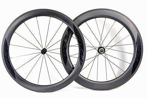Aerycs aero carbon ruote per bici da corsa e triathlon c 55/55sl c aero, 16/20dt swiss coltello razze, cerchione altezza 55mm, larghezza 28mm, peso 1530g