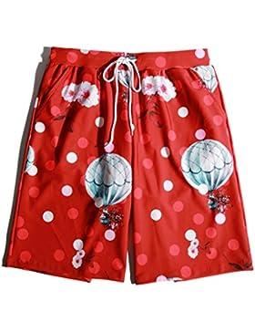 LINGZHIGAN Swim Trunks pantalones de playa de secado rápido suelta gran patio Seaside Vacation Five Points Shorts...
