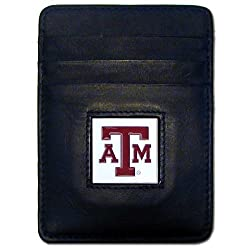 NCAA Texas A&M Aggies Leather Money Clip/Cardholder Wallet