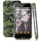 "Blackview BV5000 Lte 4G- Smartphone Libre Android Impermeable Ip67 (5.0"" Hd, 5000mAh, 64 Bits Quad Core, 16Gb, 2Gb Ram, 13Mp, Dual Sim, Antipolvo Antigolpes), Verde"