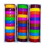 #9: Premium Quality Multicolors Plastic Bangles Kada/Patla for Silk Thread Jewelry Making 5mm,10mm,20mm Set of 3 Full Boxes Plastic Bangle Set Plastic Bangles for Women
