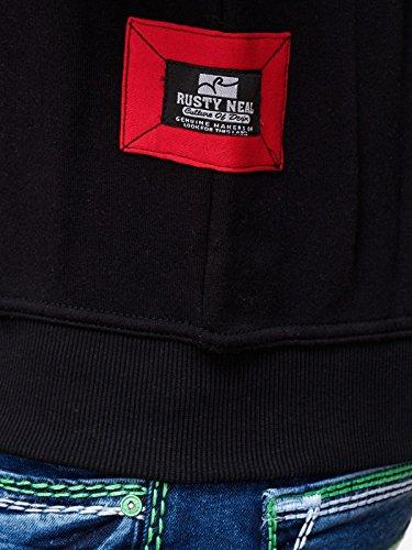 19046v2 Kapuzenpullover Kapuze Pullover Hoodie Sweatjacke Sweat Jacke Pulli Sax