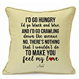 "Adele Valentines Day Wedding Anniversary Birthday Romantic Presents Gifts Ideas For Her Him Wife Husband Boyfriend Girlfriend Couples Home Decorative Handmade 18"" Cushion WITH INFILL"