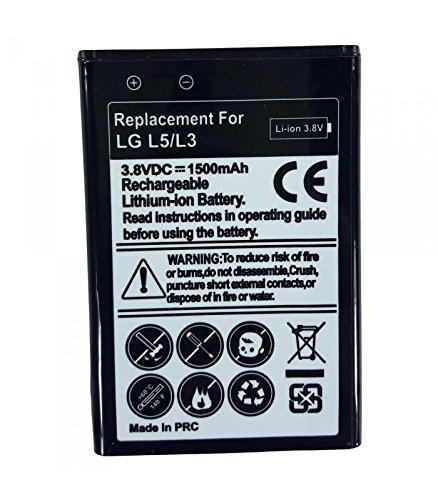 Bateria de Recambio Neutral para LG L5 E610 Modelo bl-44jn Capacidad 1500 mah