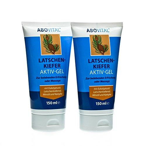ABOVital Latschenkiefer Muskel Aktiv Gel mit Latschenkiefernöl, Eukalyptusöl, Minzöl und Kampfer zur belebenden Erfrischung nach dem...
