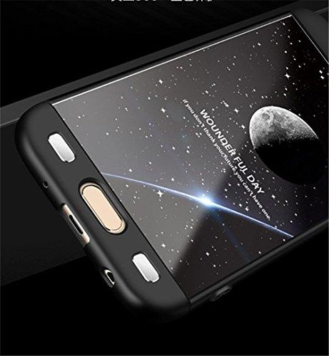 Coque Samung Galaxy J5 2017 étui ,Qissy® 3 en 1 Bumper Tout inclus Ultra Mince Spécialement Design 360 PC protective Hard case Cover Pour Samung Galaxy j5 2017 5.2pouces Smartphone Dorado+negro