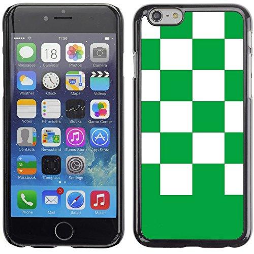 Graphic4You Kariert Muster Design Harte Hülle Case Tasche Schutzhülle für Apple iPhone 6 Plus / 6S Plus (Aqua Blau) Grün
