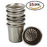 Fingerhüte Set 15 Stück Silber Fingerhüte in gleicher Größe Metall Fingerhut zum Nähen