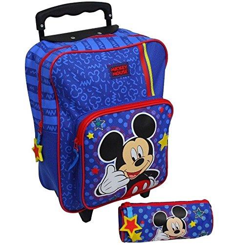 Spielwaren Klee Disney Mickey Mouse Trolley Koffer Kinderkoffer Rucksack Reisekoffer 2 TLG Set