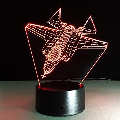Kreative 3D USB LED Lampe Globus Erde Plan Flugzeug Triumph Himmel 7 Farben Stimmungswechsel Lampe Pilot Geschenk Raumdekoration RGB ## 6