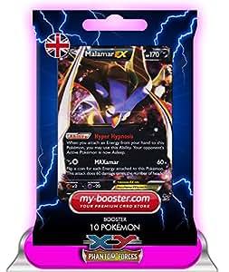MALAMAR EX (Sepiatroce) 58/119 170HP XY 4 Phantom Forces - Booster optimisé ATTAQUE ECLAIR de 10 cartes pokemon Anglaises