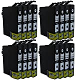 16x Compatible Epson T1281 (Black) Printer Ink Cartridges for Epson Stylus S22 SX125 SX130 SX230 SX235W SX420W SX425W SX430 BX305F BX305FW SX440W SX435W SX445W SX438W Printers **by Printer Ink Cartridges**