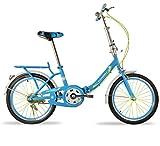MHGAO Niños Plegable Bicicleta portátil niña/Boy Bicicleta 16 Pulgadas 3-10 años de Edad Regalos Juguetes, 1