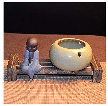 CHOUREN Cenicero, Multifuncional Cenicero cerámica