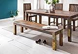 Esszimmerbank 160 x 45 x 38 cm Mango Shabby Chic Massiv-Holz - Design Landhaus Sitzbank Bootsholz - Holzbank für Esszimmer - Küchenbank 3 - 4 Personen