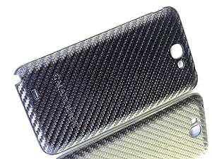 Exklusive-Cad - Samsung Note 2 N7100 Akkudeckel Backcover Cover Schale Gehäuse Leder schwarz