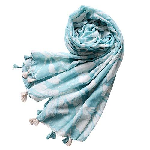 AchidistviQ Fashion Leaf Quaste Frauen Urlaub Strand Handtuch Sonne Schutz Große Schal Multi