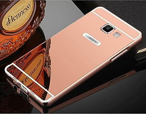 Coque Samsung Galaxy On7 2016 / J7 Prime Aluminium Miroir Coloris Rose Etui Housse Bumper