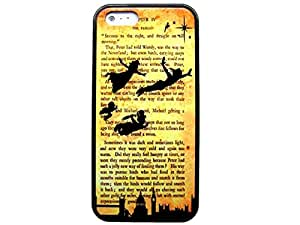 PETER PAN TINKERBELL DISNEY BOOK QUOTE ~ Image Design Hard Back Case cover skin for Apple Iphone 5 5S