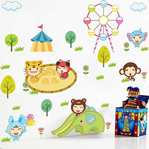 limicry Puppe Spielplatz Cartoon Kinderzimmer Schlafzimmer Tv Hintergrund Wand Dekoration Aufkleber Selbstklebende PVC (Puppe Spielplatz)