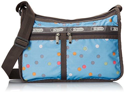 LeSportsac Classic Deluxe Everyday Bag, Blau - Litho Dot Blue - Größe: One Size