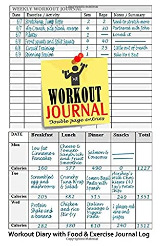 Workout Journal: Workout Diary with Food & Exercise Journal Log: Perfect Workout Charts & Weight Loss Journal To Kick-Start Your Fitness Routine: Volume 1 (Workout