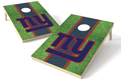Proline Kornloch-Set NFL Felddesign, 60 x 90 cm, New York Giants 2x3 Cornhole Board Set - Field, Team Color, 2' x 3' - New York Werfen