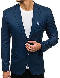 BOLF Hombre Americana Blazer Traje Elegante Slim Fit 4D4 MIX