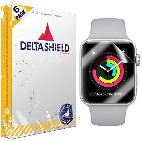 Apple-Watch-Screen-Protector-42mm-Series-321-Compatible6-Pack-DeltaShield-BodyArmor-Full-Coverage-Screen-Protector-for-Apple-Watch-Military-Grade-Clear-HD-Anti-Bubble-Film