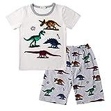 Topgrowth Pigiama Bambino Dinosauro Maglietta A Maniche Corte Neonato Unisex Camicia Stampa Cime T- Shirt + Pantaloncini Pigiama Set Estate