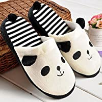 LuckyBB Women Lovely Cartoon Panda Slippers Warm Cozy Soft Stuffed Household Indoor Shoes