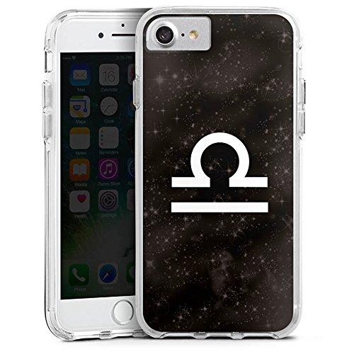 Apple iPhone 6s Bumper Hülle Bumper Case Glitzer Hülle Sternzeichen Stars Sterne Bumper Case transparent