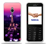 Fubaoda Nokia 230 Hülle, [Tower Night] Transparent Silicon Clear TPU Slim Fit Shockproof Flexible 3D zeitgenössischen Chic Design Ultra Thin Lightest Easy Grip Durable Flex für Nokia 230