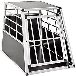 tectake Cage Box Caisse de Transport pour Chien Mobile Aluminium - diverses Tailles au Choix - (Simple/Grand   No. 400651)
