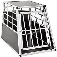 TecTake Transportín de aluminio para perros 65 x 90 x 69,5 cm