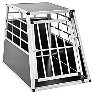 Cage de transport chien aluminium pour transport en voiture single (65/90/69,5cm)