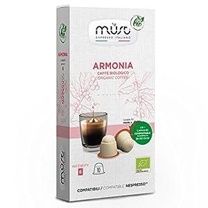 Must Espresso Italiano 100 Capsule Compostabili compatibili Nespresso Armonia Caffè Bio 16 spesavip
