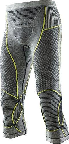 X-Bionic Herren Apani Merino BY Fastflow Man UW Pants Medium Unterwäsche, Black/Grey/Yellow, S/M (Medium Herren-unterwäsche)