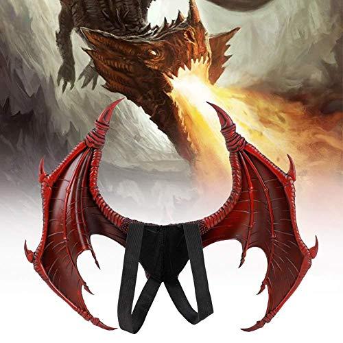 Nano WIA Kinder Halloween Funny Dinosaurio Dragon Surprise Kostüm Kind Tier Wing Tail Zubehör,Red (Red Wings Kostüm)
