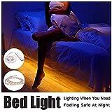 ELINKUME Motion Aktivierte PIR-Sensor LED Streifen Bett-Licht, 1M/3.28ft 60LEDs (5050 SMD) Wasserdichte Flexible LED Streifen Nachtlicht mit automatischer Abschaltung Timer (Warmweiß)