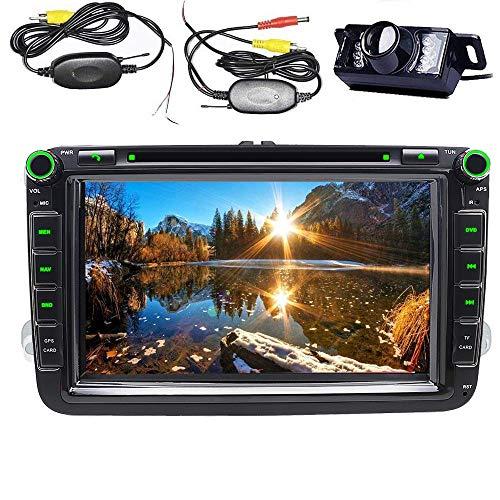 Para Volkswagen coche estéreo 8Inch 2DIN DVD GPSBluetooth