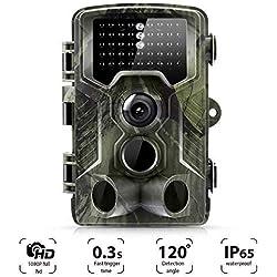 [Actualizado] Suntek Wild Cámara de Caza 12 MP 1080P Full HD Cámara De Gran Angular de 120° 40pcs IR Leds Visión Nocturna con hasta 20M visión Nocturna Impermeable 2.0 LCD Pantalla, 800A