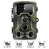 Wildkamera 16MP 1080P Full HD Jagdkamera Infrarote 20m 42 LEDs Nachtsicht Bewegungsmelder 120 ° Weitwinkelobjektiv IP65 Wasserdicht 2.0